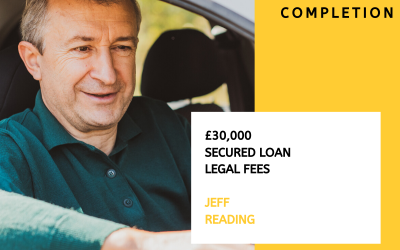 Secured loan for £30,000 Legal expenses