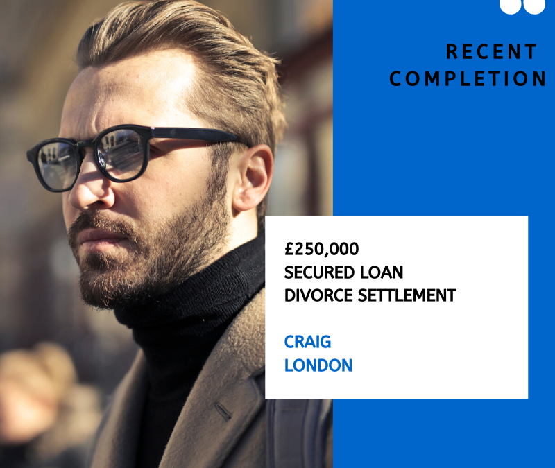 Second Charge Mortgage for a Divorce Settlement
